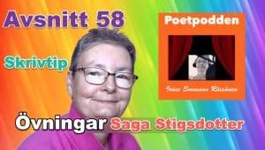 """Poddtrailer för avsnitt 58 """"Kom igång och skriv"""""""